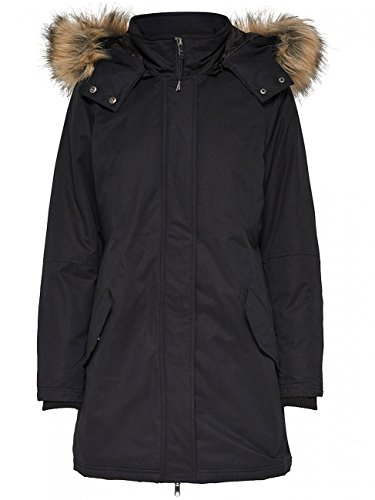 Only Onlsarah Parka Jacket Otw, Negro Black Black, 38 Talla del Fabricante: Small para Mujer