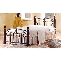 Galaxy Wooden Steel Single Bed, Cherry Brown Legs - 90 x 190 cm GDF-3888