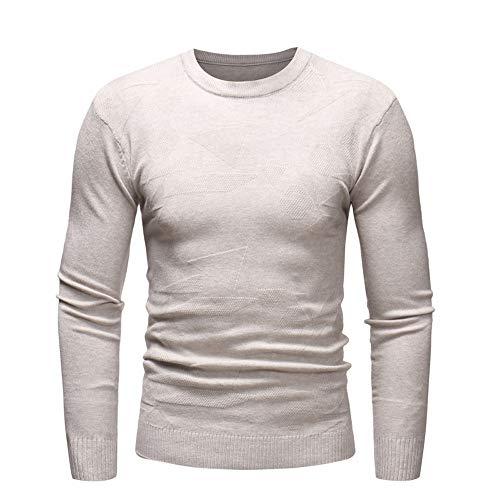 BaZhaHei Herren Langarmshirt Herren Herbst Winter Pullover Pullover Slim Jumper Strick Outwear Bluse...