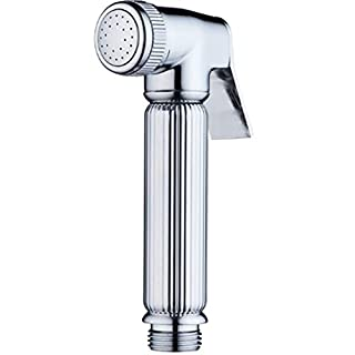 WAWRR Hand showerCopper booster shower headHigh Pressure Chrome Luxury Showerhead, Massage Shower Experience, Wall-Mounted