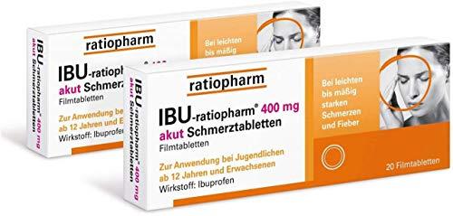 Ibu ratiopharm 400 akut 2 x 20 Schmerztabletten