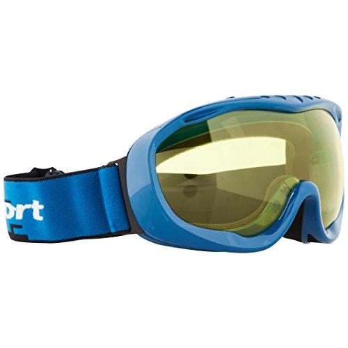 Ultrasport 331500000092 Masque de ski Mixte Adulte, Bleu/Jaune, Taille unique