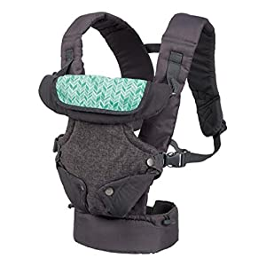419jUBST1cL. SS300  - Infantino Flip Advanced 4-in-1 Convertible Baby Carrier, Light Grey