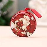 VIGE Mini kleine Größe Weihnachten gedruckt Münze Aufbewahrungstasche Spardose für USB-Kabel Münzhalter Reißverschluss Reiseveranstalter - Multi-Color Mixed