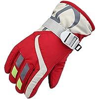 niños unisex guantes de esquí de invierno, guantes calientes con puños ajustables transpirable para snowboard, ciclismo al aire libre o para la pala de nieve by Sannysis