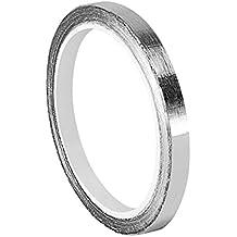 """tapecase 0,125–5-421tape-converted de aluminio plata oscuro plomo cinta adhesiva de goma, de 3M 421, 60–225Grado F Rendimiento Temperatura, 0.0063""""de grosor, rollo de 5cm de largo, 0,125"""" Ancho,"""