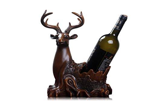(HPTJ Deer Weinflaschenhalter, Arbeitsplatte/Tischplatte/Freistehend/Dekorativ/Ornamente, 27 × 15 × 31.5 cm,Kreativ,Weinregal)
