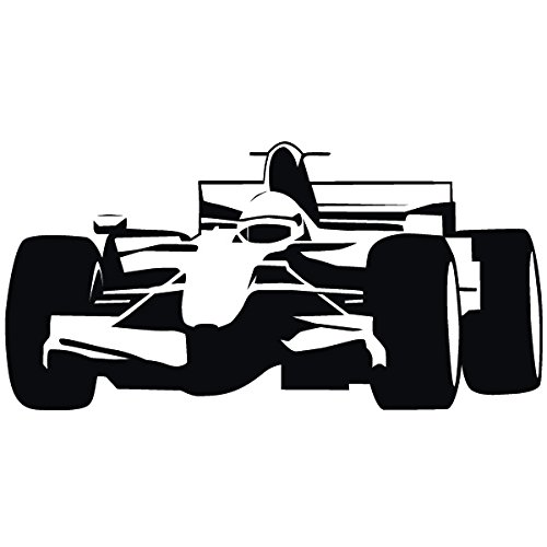 Preisvergleich Produktbild Wadeco Formel 1 Wandtattoo Wandsticker Wandaufkleber 35 Farben verschiedene Größen, 80cm x 40cm, rot