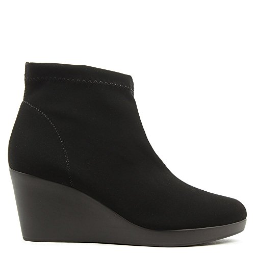 Daniel Rosetta Black Wedge Ankle Boots Black Fabric