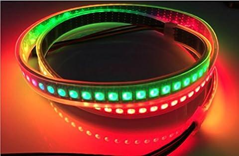 1M 144 Pixel / Leds APA102 Wasserdichte IP67 Schwarz PCB DC5V Individuelle Adressierbare Farbe (500 Pixel Weihnachten)