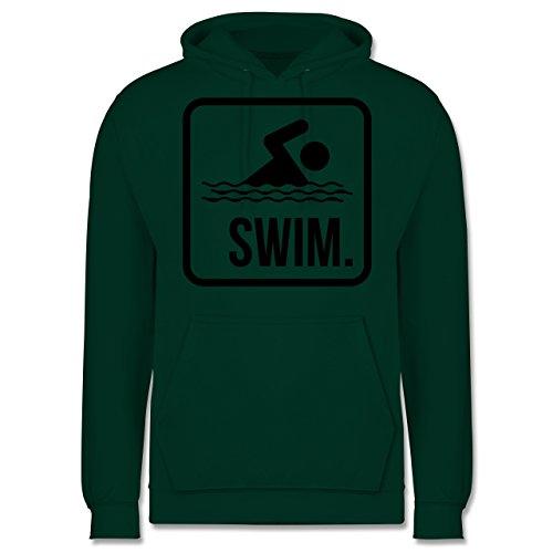 Wassersport - Swim. - Männer Premium Kapuzenpullover / Hoodie Dunkelgrün