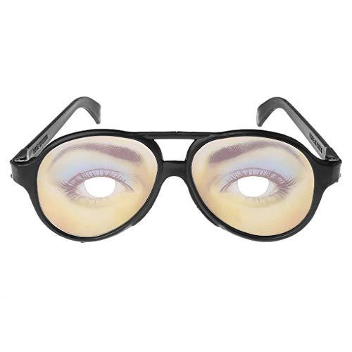 ECMQS Crazy Eyes Brille, lustige Specs Shape Shades ändern Halloween Party Witz Geschenke (Frau)