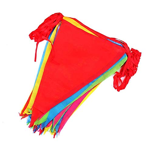 60 Metres Multicolor Bunting Banner 90 Large Flags Double Sided Material Indoor Outdoor Party Decoration