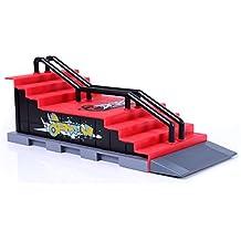 Los Mini Accesorios De Skate Y De Rampa Establecidos F #