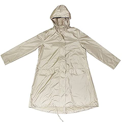 Ezyoutdoor Longer Raincoat with Zipper clear packable Slicker Poncho Bicycle Ridding Cape Women Men Cycling Bike Waterproof Rain Cape for Outside Camping Hiking Walking Travel