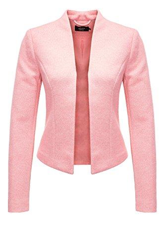 ONLY Damen Onldonna Ricks Short L/S Blazer TLR, Rosa (Strawberry Ice Detail:Melange), 36 (Blazer-jacke Lässige)