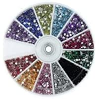 Start hereMASH Rhinestones 2400 Piece 12 Color Nail Art Nailart Manicure Wheels by 3d nail art