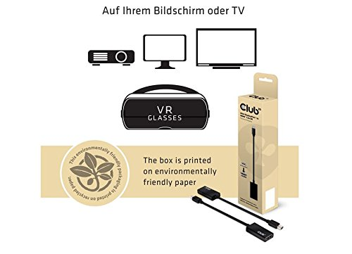Club 3D CAC-1056 DisplayPort 1.1a auf HDMI 1.4a VR Ready Passiver Adapter schwarz
