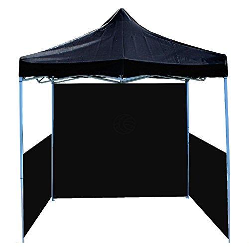 Cablematic - 300x300cm nero pieghevole Tenda con fondo e laterale