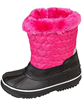 GIBRA® Winterstiefel für Kinder, warm gefüttert, Schneeboots mit Reißverschluss, pink, Gr. 28-35