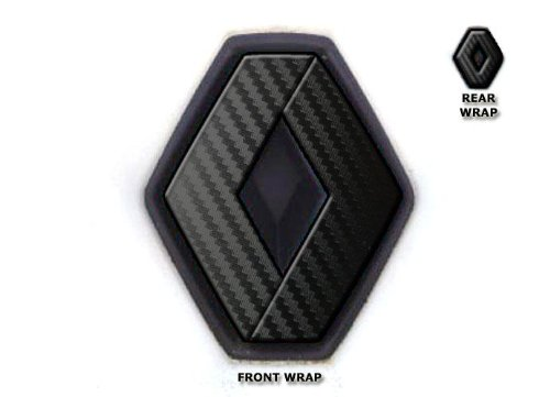 Preisvergleich Produktbild JCM Abzeichen vorne & hinten, passend für Renault Twingo II 2007–2011, schwarz, Karbon-Optik