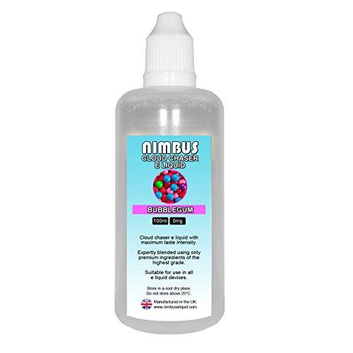 100ml Bubblegum E Liquid 80/20 Cloud Chaser Vape Juice Sub Ohm Juice Shisha Vape Liquid 0mg eJuice E Cigarette Liquid Ecig Juice (Nimbus E Liquid)