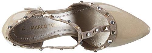 Marco Tozzi 24412, Scarpe con Chiusura a T Donna Beige (Dune Comb 435)