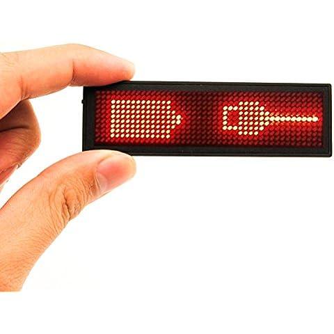 Tarjetas de Identificación LED, MECO LED Nombre de Escritorio para Oficina, LED Pantalla Recargable, Programable por Ordenadores,
