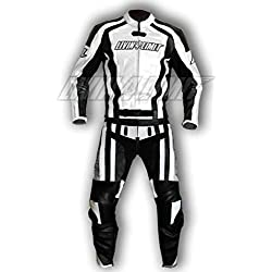 4LIMIT Sports 200100004103 Traje para Moto de Cuero, Blanco/Negro, S