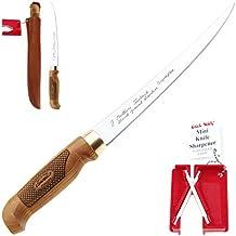 Marttiini 903410Classic Superflex Cuchillo de filetear (30,6cm + Lansky Crock Stick afilador/filleting Knife & Sharpener Combo