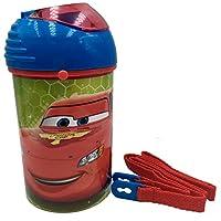 Dedimi Cars Water Bottle for School Pop Up for Kids Outdoor Leakproof BPA Free Reusable