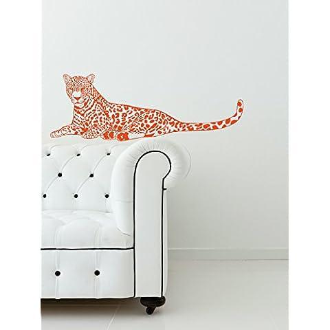 Pared Plus más WDPM3113 grande diseño de animales de guepardo vinilo adhesivo decorativo para pared, 20 x 147,32 cm,