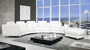 Canapé d'angle contemporain modulable cuir sophie