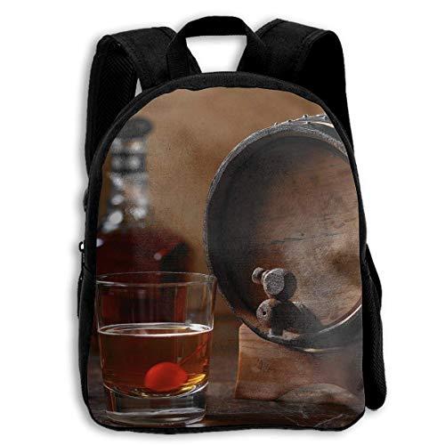 ADGBag Whiskey Barrel Aged Cocktail Children's Backpack Kids School Bag with Adjustable Shoulders Ergonomic Back Pad Perfect for School Security Sporting Events Kinderrucksack Rucksack -