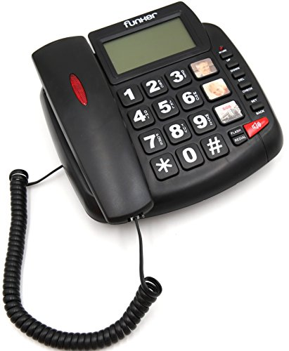 FUNKER D20 Negro TELÉFONO Fijo SOBREMESA/Pared Especial
