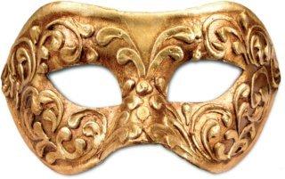 Karneval / Kostüm / Halloween Venezianische Maske - Colombina stucco oro