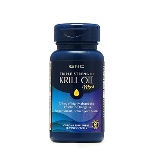 GNC Triple Strength Fish Oil Plus Krill - 60 Softgels