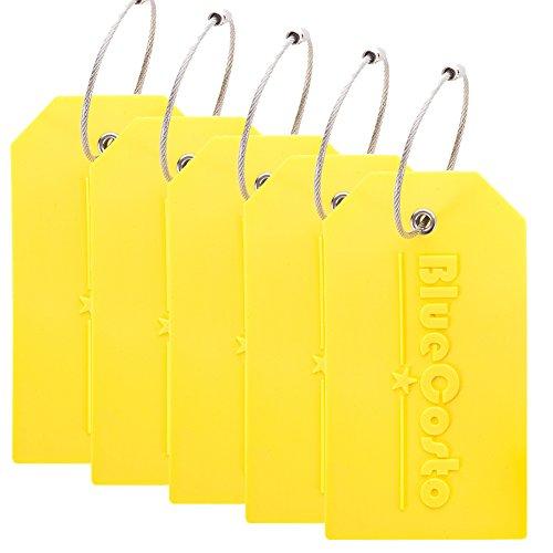 on Kofferanhänger Gepäckanhänger Koffer Luggage Tag - Gelb ()