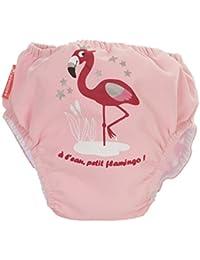 Piwapee - Maillot avec couche de bain clipsable Swim + anti fuite Flamingo  Rose 495c09a9468