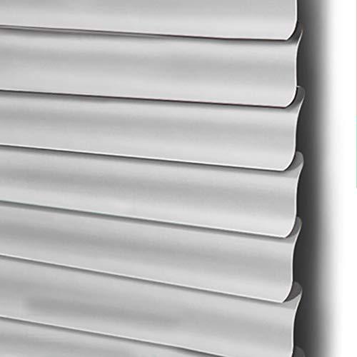 Persiane tende veneziane in pvc per finestre, orizzontali larghezza 100 cm, filtraggio leggero del 90%, ideale per luoghi privati come i bagni (colore : gray, dimensioni : 120(w) x160(h) cm)