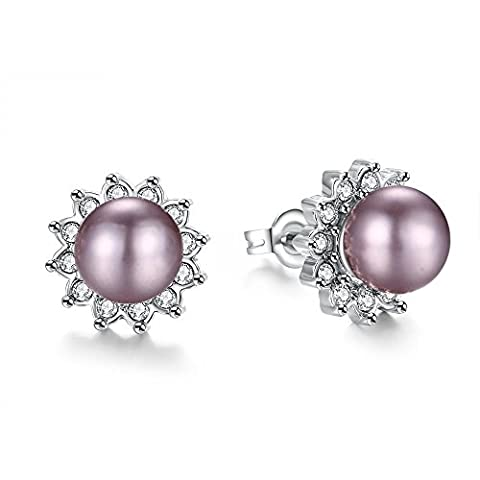 stud-earrings 18 carats Plaqué or
