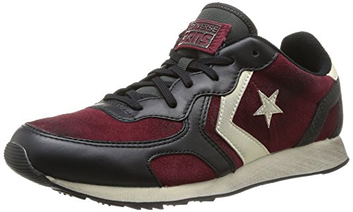 Converse, Auckland Racer Ox Suede/Leat Sneaker,Unisex Adulto, Marrone (Maroon/Iron/Black), 41