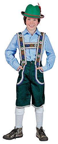 Kostüm Kinder Lederhosen - Karneval-Klamotten Kostüm Lederhose Jungen Tiroler Peter Bayernhose Trachten-Hose Kinder Oktoberfest Jungenkostüm 140