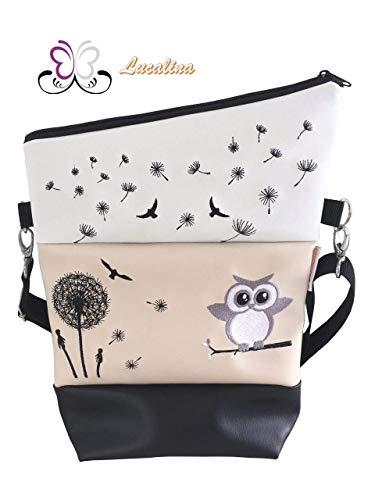 Handtasche Pusteblume Eule Vögel Tasche Foldover Schultertasche
