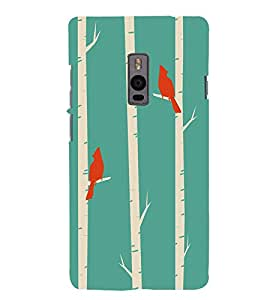 Birds pattern Back Case Cover for One Plus Two::One Plus 2::One+2