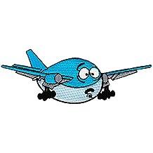 Avión Azul parche plancha de