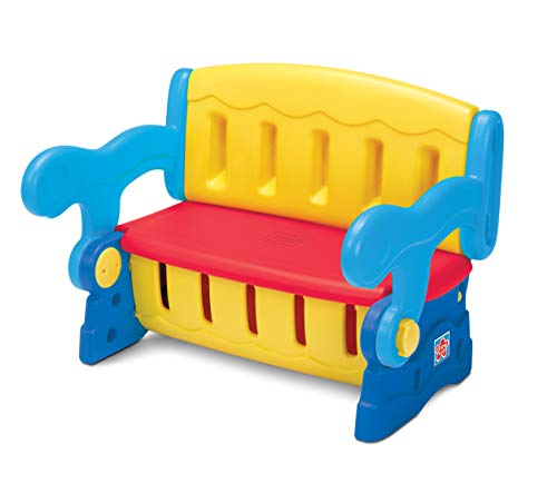 Grow'n UP 2in1 Sit'n Munch Aufbewahrungsbank für den Garten | Möbelkiste für Kleinkinder Kinder mit Deckel und Sitzen | Aktivitätstabelle | Outdoor & Indoor Boxen mit Deckel organisieren -