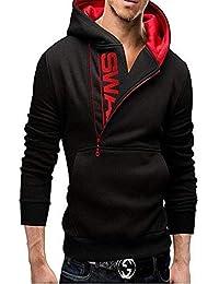 aarmy fit Men's Fleece Hoody Sweatshirt Jacket (Black, Medium)