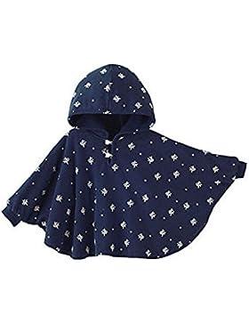 TININNA Baby Kinder Kleinkind Winter Kapuze Cape Mantel Umhang Poncho Mädchen Jungen tiefes blau 0-12 Monate