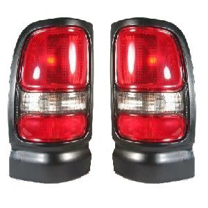 DODGE VAN/PU/SUV RAM PICK-UP (OLD TYPE) TAIL LIGHT RIGHT (PASSENGER SIDE)WITHOUT SPORT(TX/BLK) 1994-2002 by TYC